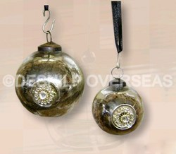 Amber Christmas Ornaments With Metal