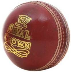 BDM Royal Crown Cricket Red Leather Ball