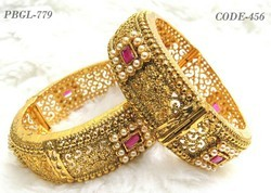 Indian Designer Ruby Stone Polki Bangles