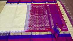 Silk Cotton Korvai Silk Border Sarees