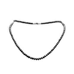 Black Diamond Bead Necklace