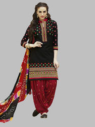 Neck Work Patiala Suits