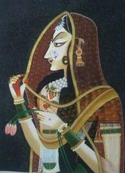 Bani Thani Silk Painting
