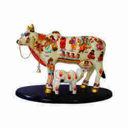 Kamdhenu Cow and Calf Statue