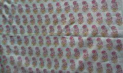 Small Booti Pink Block Printed Fabric