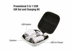 3 in 1 USB Gift Set and Charging Kit