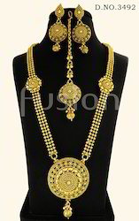 Traditional Antique Long Haram Necklace Set