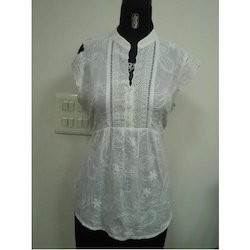 Self Embroidery Fabric Top