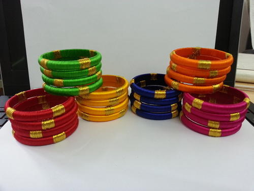 Designer Silk Thread Bangles - Girls Fashion Bangles