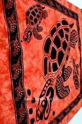 Indian Bed Sheet Big turtle Tapestry