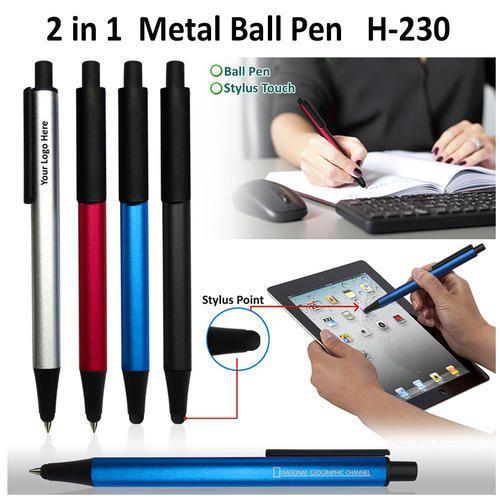 2 in 1 Metal Ball Pen H-230