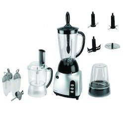 Stainless Steel 3-In-1 Food Processor With Blender