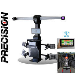 3d wheel alignment with robotic assistance 2 camera