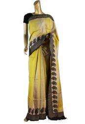 Kantha Worked Blended Silk Sarees