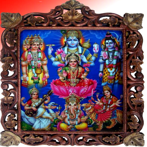 Decorated God and Goddesses Photo Frames