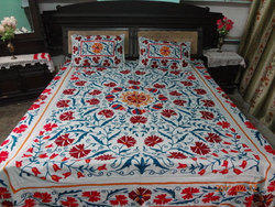 Suzani Embroidered Bedcovers