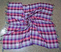Checks Design Handloom Square Scarves