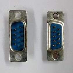 9-pin  Male PCB Mount Straig Connector