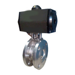 Pneumatic Rotary Actuator Operated Wafer Type Ball Valve