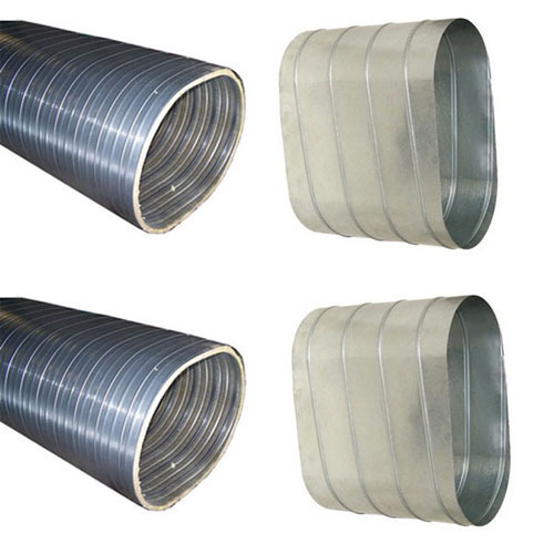Spiral oval ducts double walled flat duct