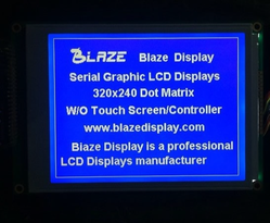 320x240 Graphic Display, Blue Mode