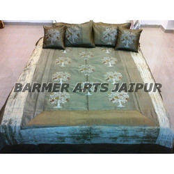 Silk Embroidery Tree Boota Bed Cover