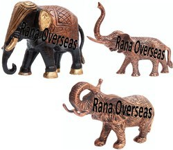 Aluminum Metal Decorative Elephants