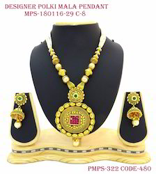 Beautiful Ruby Pendant With Jhumkas Pearl Drop