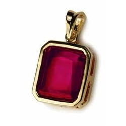 Natural Ruby Gold Fancy Pendant