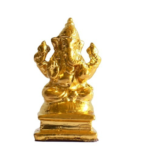 Gold Mounted Ganeshji Statue