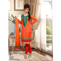 Jacquard And Cotton Ladies Embroidered Suit, Size: S, M & L