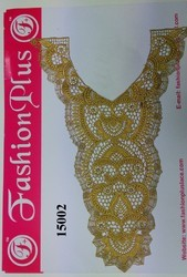 Beautiful Gold Zari Neck Collar