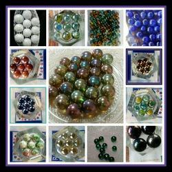 Round Shape Glass Pebbles