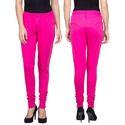 Pink Cotton Lycra Yoke Legging