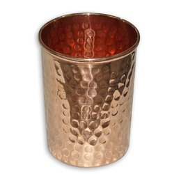 Pure Copper Hammered Water Tumbler Glasses - NJO 6603