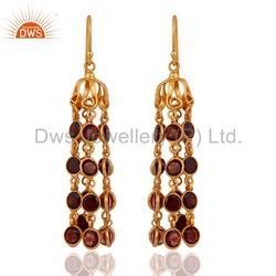 Silver Gold Plated Gemstone Earrings