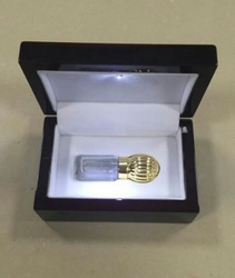 Attar Glass Bottle with Wooden Box Packing