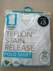 Boys & Girls White Polo T Shirts
