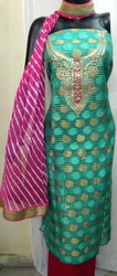 Aaditri Zari Work Ethnic Gota Patti Suit