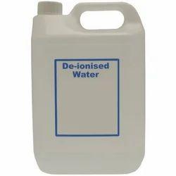 distilled and deionized water