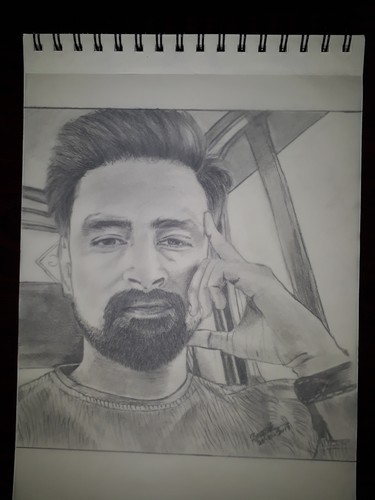 Pencil portraits sketch