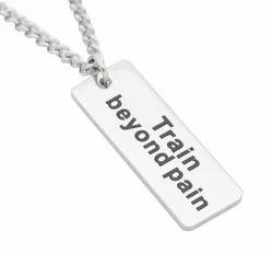 Train Beyond Pain Slogan Pendants