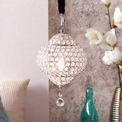 Hammond Chrome Finish Crystal Pendant Lamp