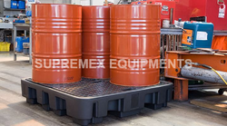 4 Drum Poly Spill Pallet