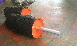 Rubber Lagging Conveyor Drum Main Pulley