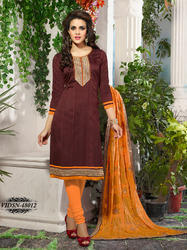 Chanderi Silk Embroidery Dress Material