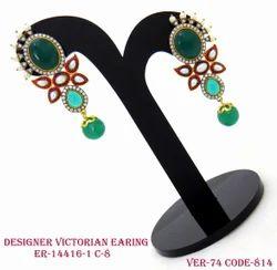 Fancy Designer Victorian Earrings