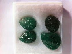 Emerald Gemstone Carvings