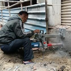 Concrete Core Cutting For A/C Fitting