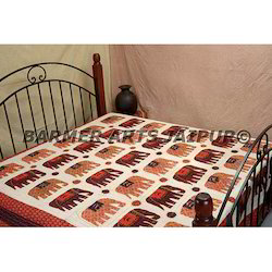Cotton Bed Cover Elephant Gudri